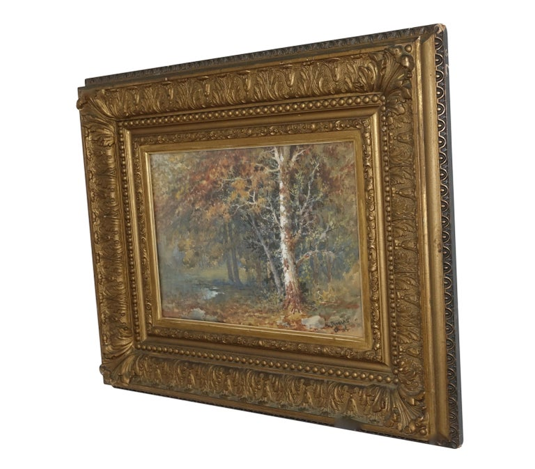 Landscape Watercolor Painting Signed L Douglas, American, Early 20th Century For Sale 6