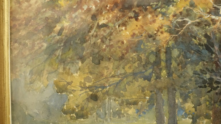 Landscape Watercolor Painting Signed L Douglas, American, Early 20th Century In Good Condition For Sale In San Francisco, CA