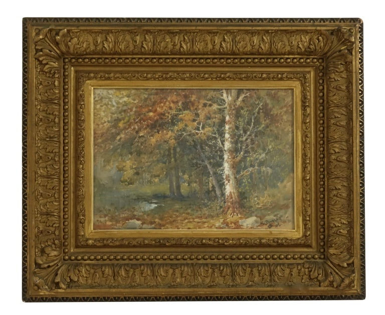Landscape Watercolor Painting Signed L Douglas, American, Early 20th Century For Sale 4