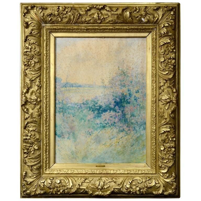 """Landscape"" Watercolor, Signed, Henry, Victor For Sale"