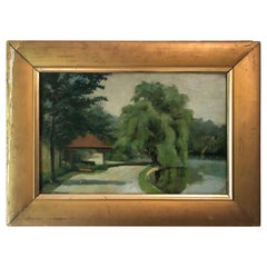Landscape with Willow Tree by Frances Roberts Nugent, circa 1930