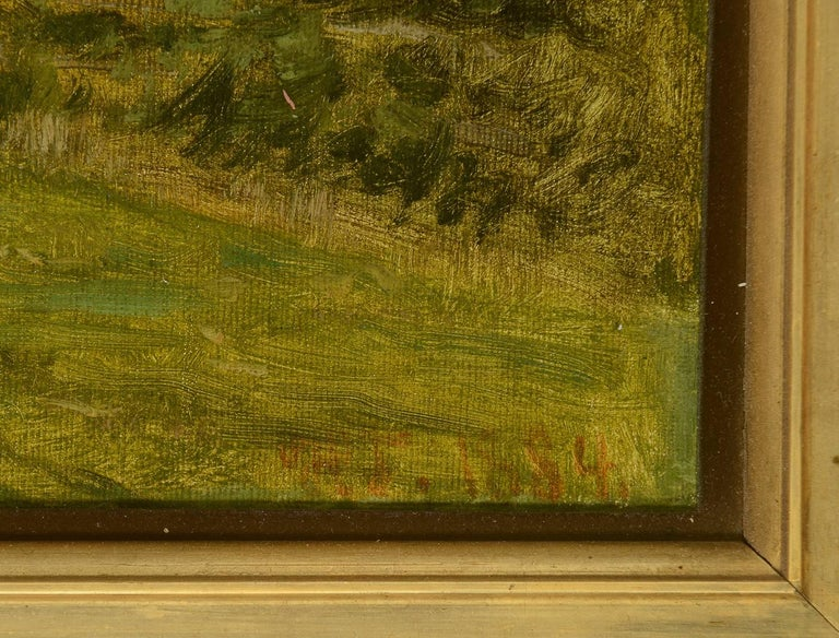 Beaux Arts Landscape with Woman For Sale