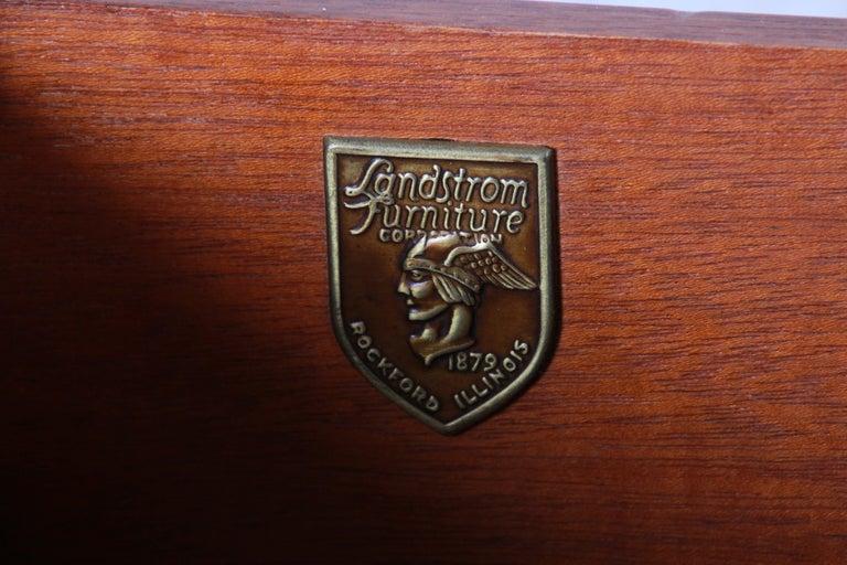 Landstrom Furniture French Carved Burled Walnut Highboy Dresser, circa 1940s For Sale 7
