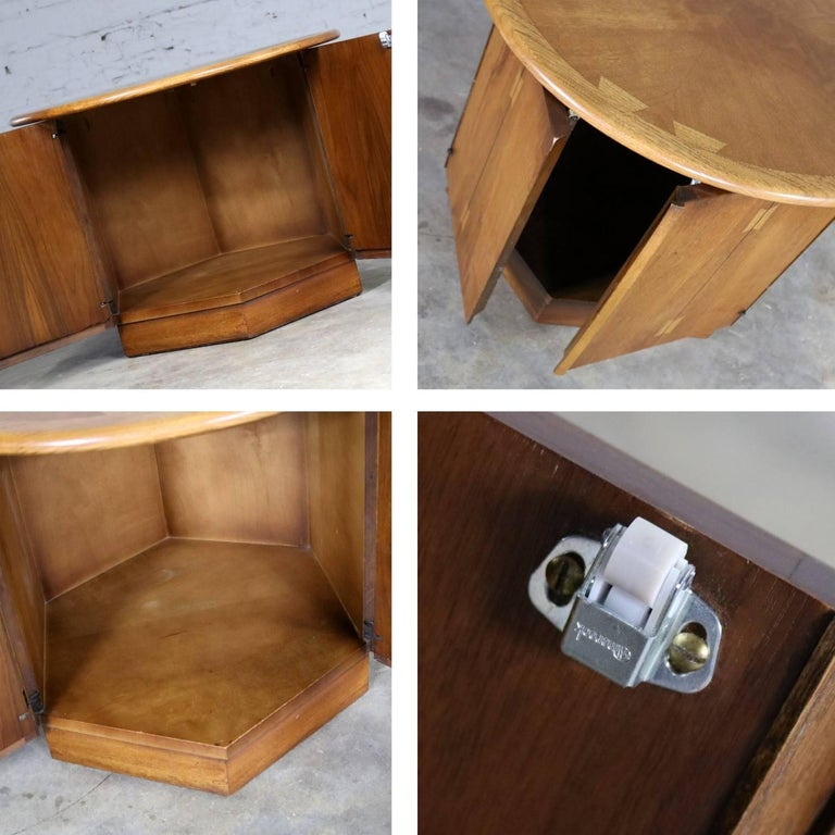 Lane Acclaim Dovetail End Table Round Top and Hexagon ...