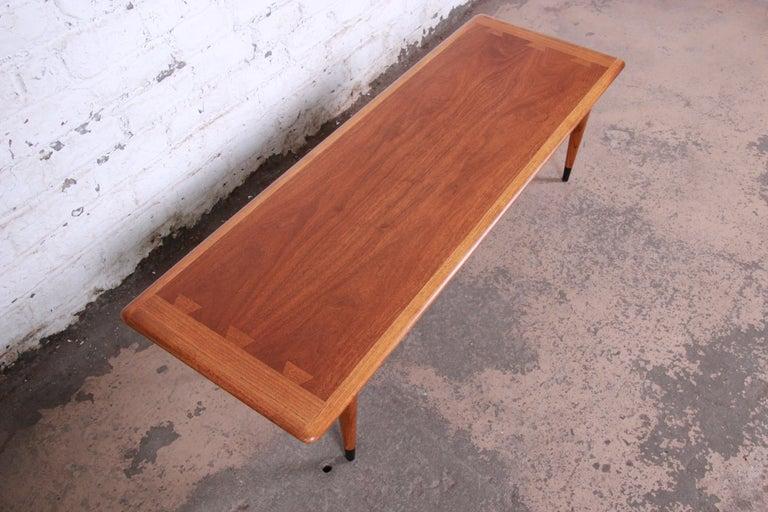 Walnut Lane Acclaim Mid-Century Modern Coffee Table For Sale