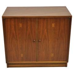 Lane Acclaim Mid-Century Modern Dovetail 2 Door Walnut Cabinet Chest
