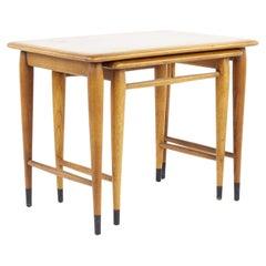 Lane Acclaim Mid Century Walnut Nesting Tables
