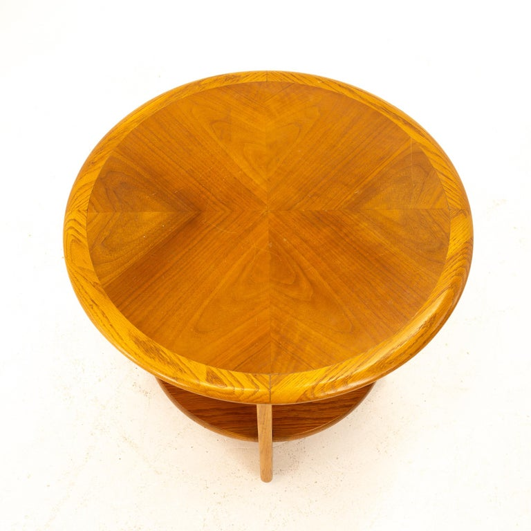 Mid-20th Century Lane Altavista Mid Century Walnut Round Side End Table For Sale