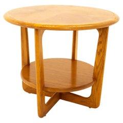 Lane Altavista Mid Century Walnut Round Side End Table
