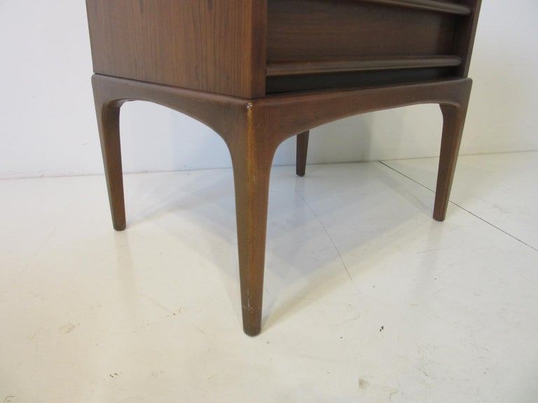 20th Century Lane Altavista Walnut Nightstands / End Tables from the Rhythm Collection For Sale