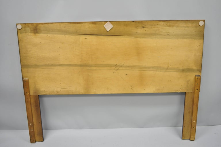 Lane Brutalist Geometric Block Queen Full Bed Headboard, Mid-Century Modern 3