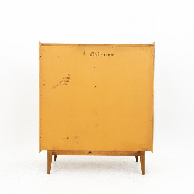 Lane First Edition Mid Century Walnut 5 Drawer Highboy Dresser For Sale 5