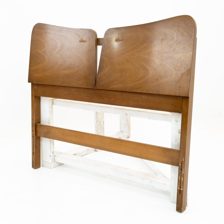 Lane first edition style mid century headboard This headboard is 40 wide x 2 deep x 36 inches high  All pieces of furniture can be had in what we call restored vintage condition. That means the piece is restored upon purchase so it's free of