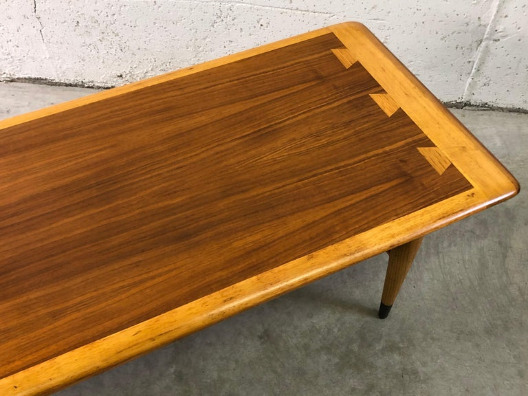 Mid-Century Modern Lane Furniture Co Dovetail Walnut Coffee Table For Sale