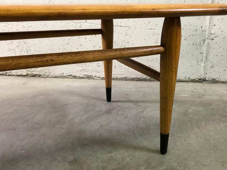 20th Century Lane Furniture Co Dovetail Walnut Coffee Table For Sale