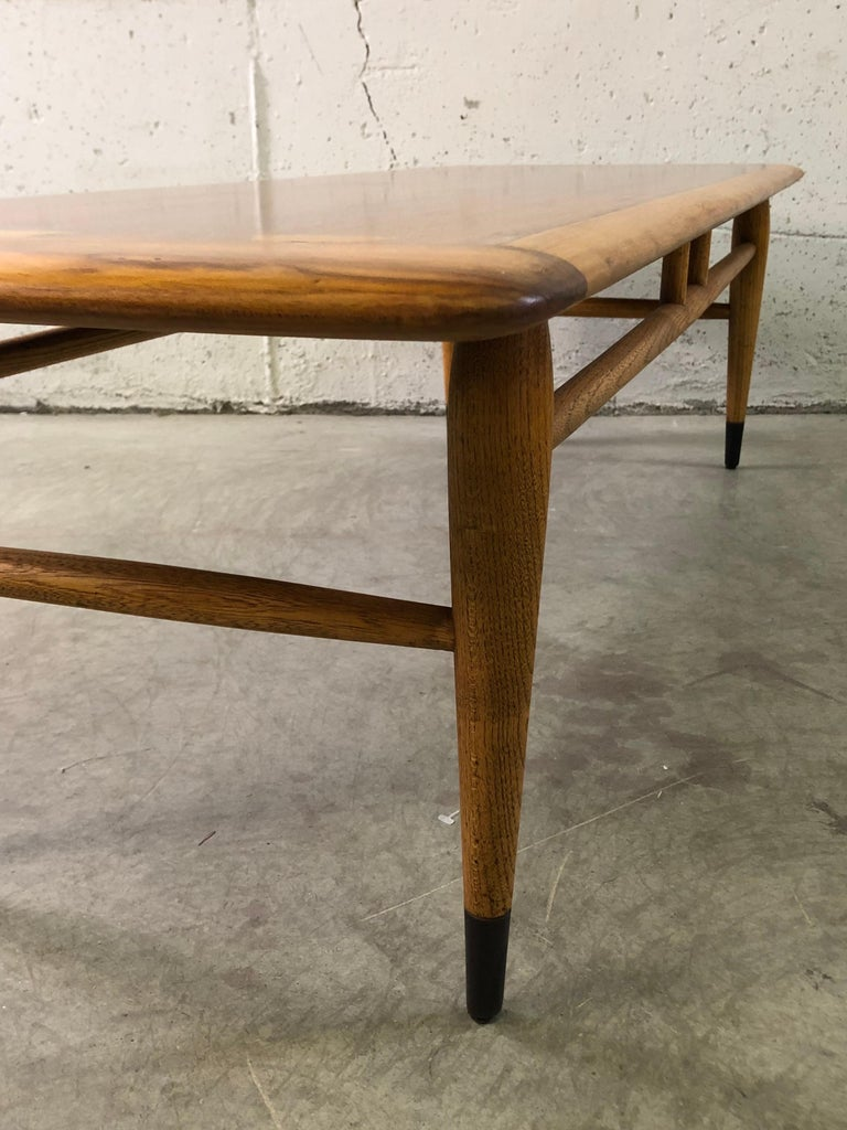 Lane Furniture Co Dovetail Walnut Coffee Table For Sale 2
