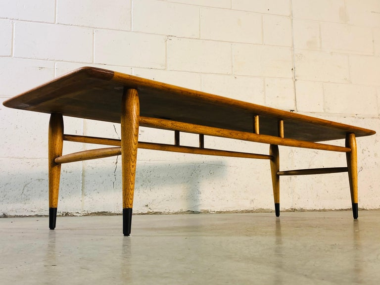 Lane Furniture Co Dovetail Walnut Coffee Table For Sale 4