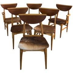Lane Furniture Perception by Warren Church Dining Chairs, Set of Six
