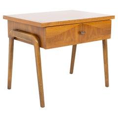 Lane Harlequin Mid Century Inlaid Walnut Side Table Nightstand