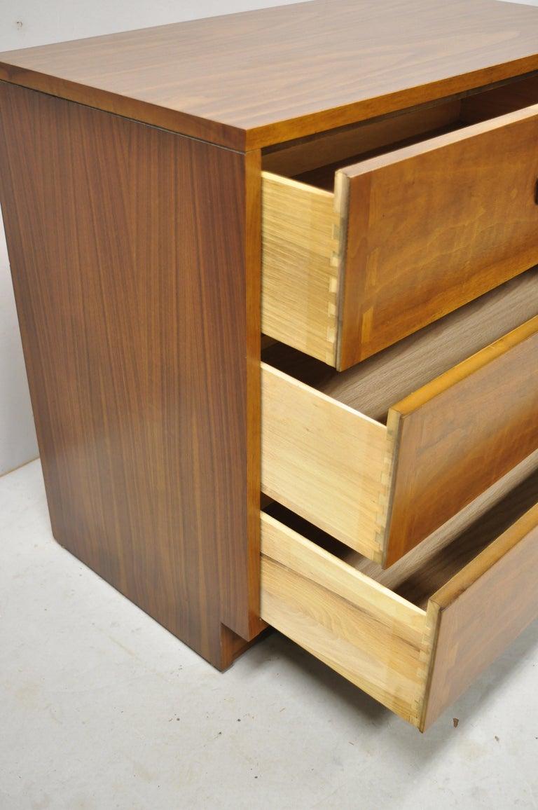 20th Century Lane Mid-Century Modern Dovetail 3-Drawer Dresser Chest Bedside Table