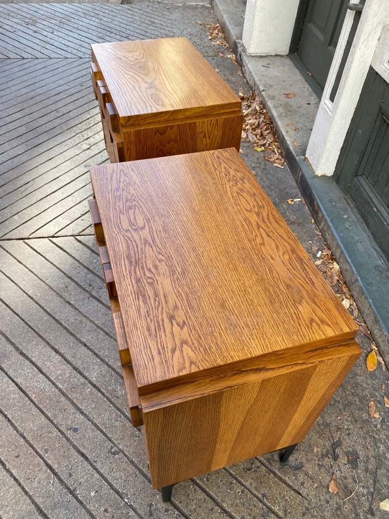 American Lane Pair of End Tables or Nightstands For Sale