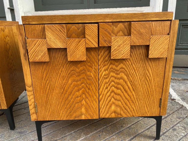 Mid-20th Century Lane Pair of End Tables or Nightstands For Sale