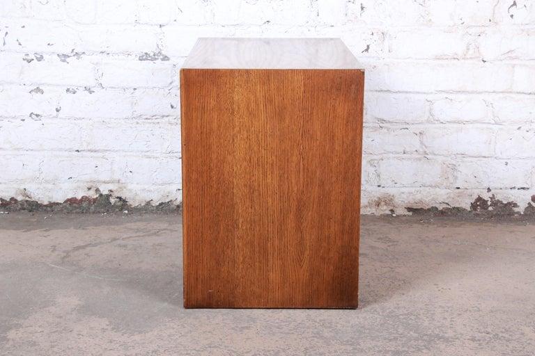 Lane Pueblo Brutalist Mid-Century Modern Oak Nightstand For Sale 2