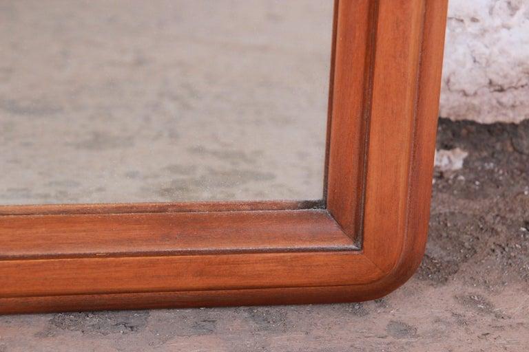 Lane Rhythm Mid-Century Modern Cane and Walnut Framed Mirror 3