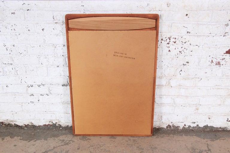 Lane Rhythm Mid-Century Modern Cane and Walnut Framed Mirror 4