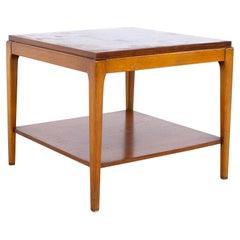 Lane Rhythm Mid Century Square Walnut Side End Table