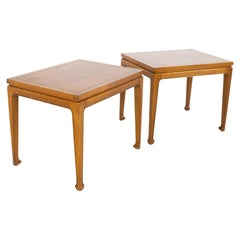 Lane Rhythm Style Fine Arts Furniture Company Mid Century Walnut Side End Tables
