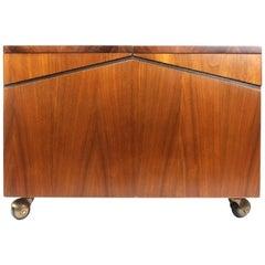 Lane Walnut Record Storage Chest or Cabinet