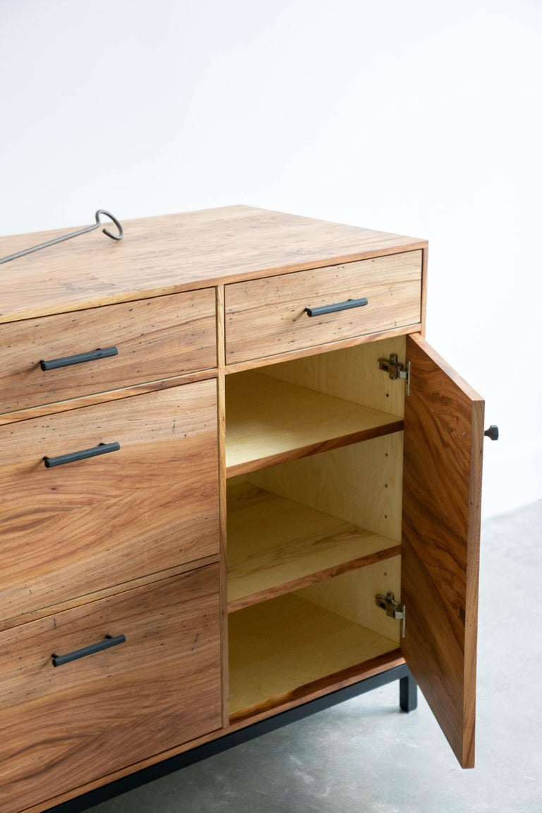 Contemporary Lanett Credenza in Elm  by Alabama Sawyer For Sale