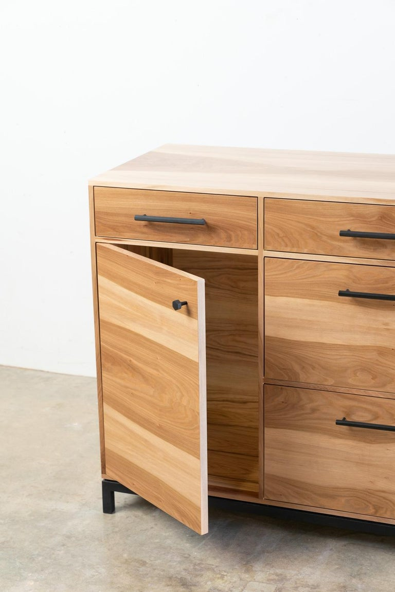 Contemporary Lanett Credenza in Sweet Gum by Alabama Sawyer For Sale