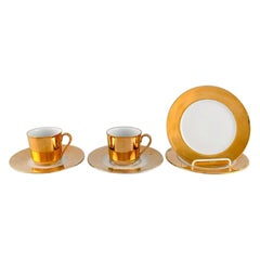 Langenthal, Switzerland, Coffee Service for Two People in Porcelain, 1930/40s