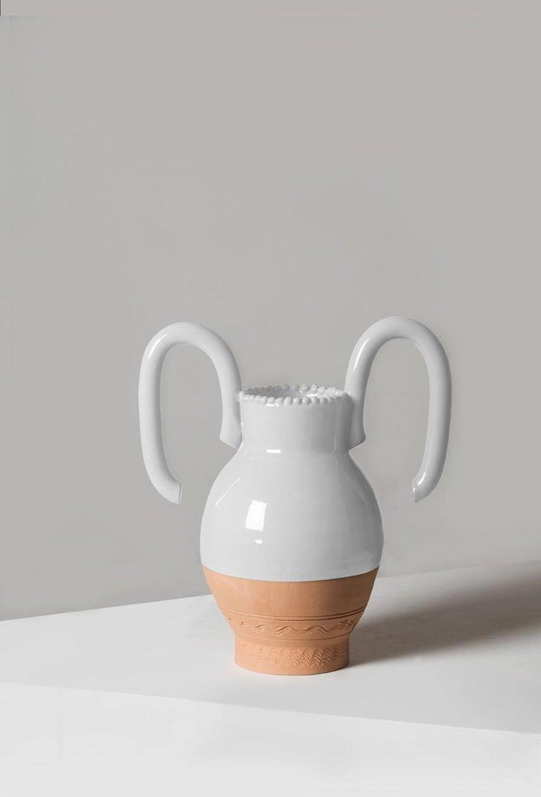 Italian Langiu Vase, a Revisitation of the Sardinian Water Jug by Sam Baron For Sale