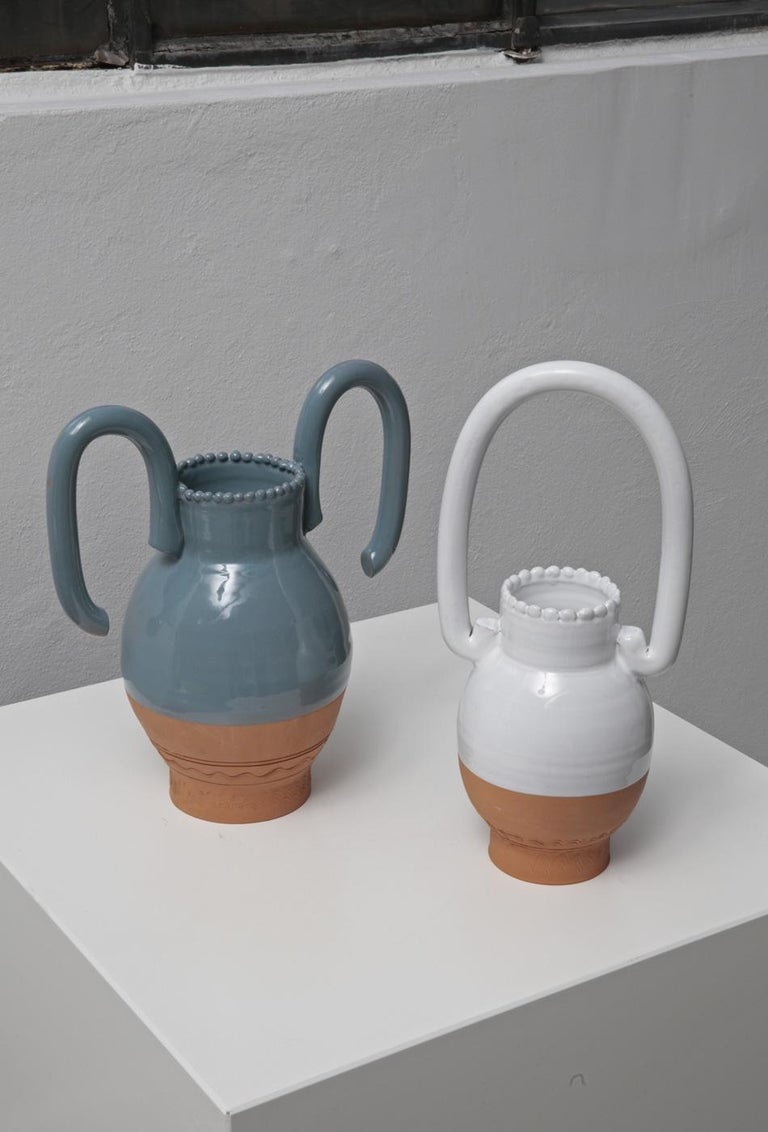 Contemporary Langiu Vase, a Revisitation of the Sardinian Water Jug by Sam Baron For Sale