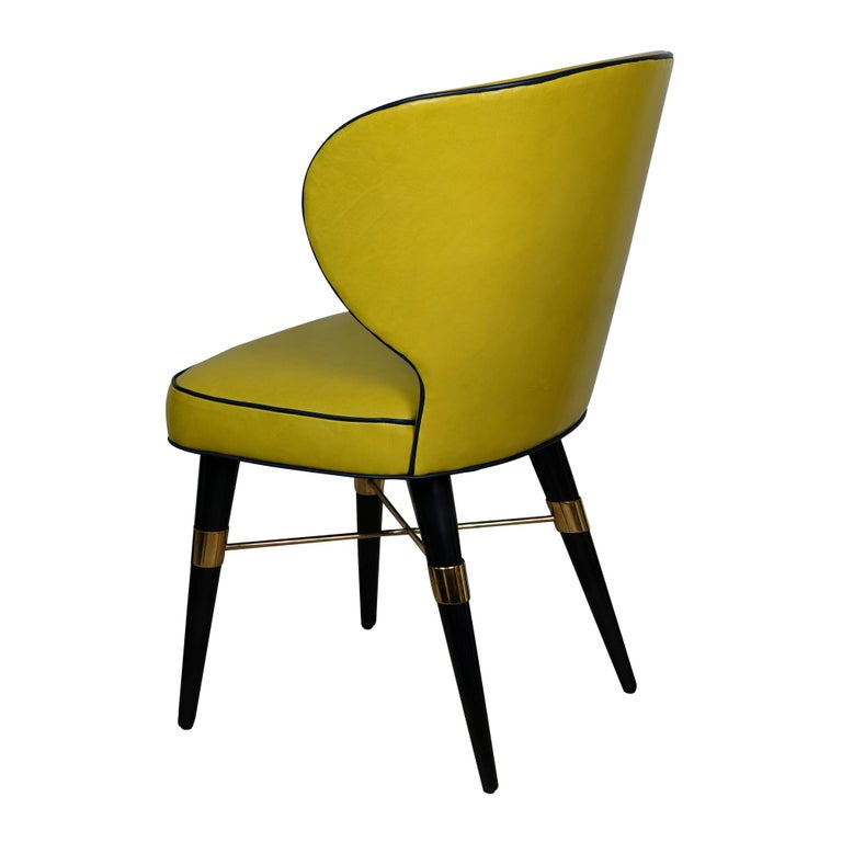 Brass Langston Dining Chair For Sale