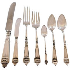 Lansdowne by Gorham Sterling Silver Flatware Service for Eight Set 63 Pieces