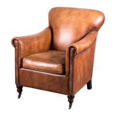 Lansdowne Vintage Style Tan Leather Armchair, 20th Century