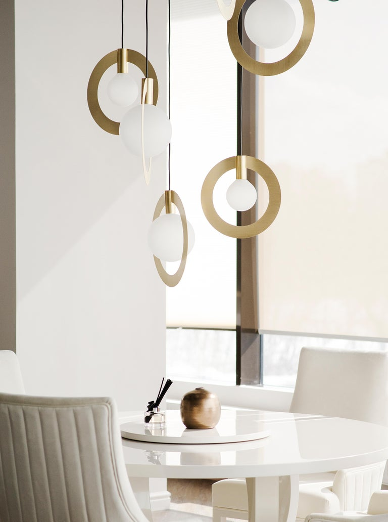 Lanta, Contemporary Sconce, Brass and Marble 'White' In New Condition For Sale In Paris, FR