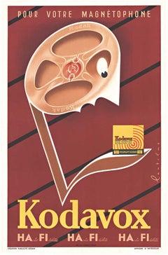 Kodavox original vintage poster for magnetic tape