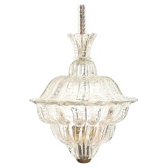 """Lantern Chandelier """"The King"""", Gold Inclusion, Murano, 1940s"""