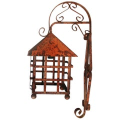 Lantern Handmade Wrought Iron, Mission Style, Spain, Early 20th Century