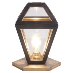 Lantern Table Lamp in Brass