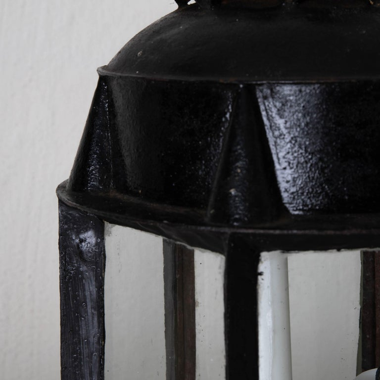 Lantern Table Swedish 19th Century Black Painted Metal Sweden 4