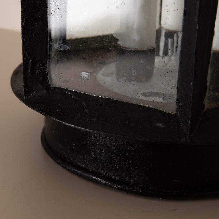 Lantern Table Swedish 19th Century Black Painted Metal Sweden 1