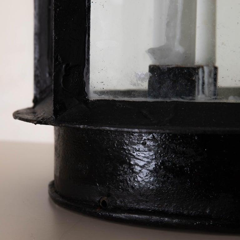Lantern Table Swedish 19th Century Black Painted Metal Sweden 2