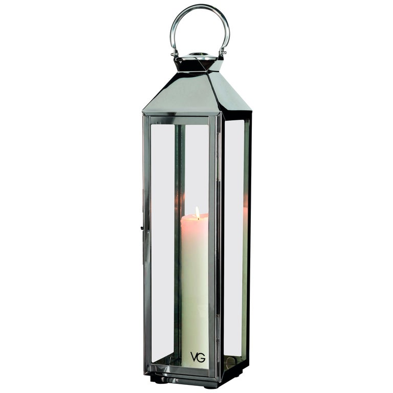 Lantern Top Pyramid Shape, Stainless Steel, Italy For Sale