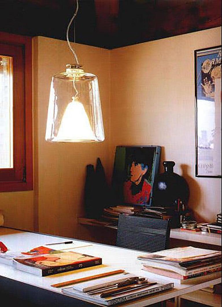 Anodized Lanterna Suspension Lamp by Marta Laudani & Marco Romanelli for Oluce For Sale